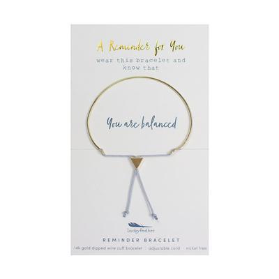 Lucky Feather's Balanced Reminder Bracelet