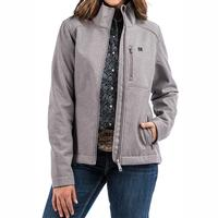 Cinch Women's Grey and Teal Bonded Jacket