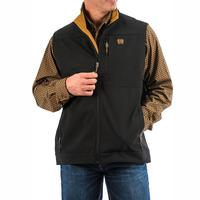 Cinch Men's Black and Gold Bonded Vest