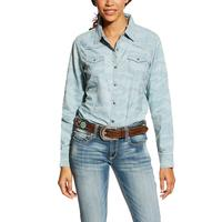 Ariat Women's Real Bold Chambray Blue Shirt