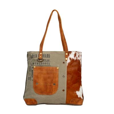 Myra Leather Pocket Tote Bag