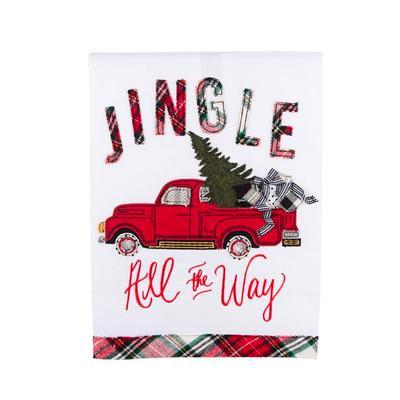 Jingle All The Way Tea Towel