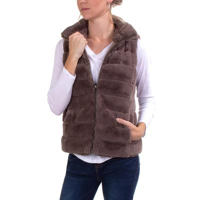Dylan Women's Fur Love Vest DRIFWOOD