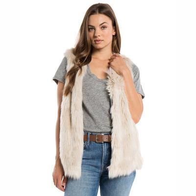Dylan Women's Melange Fur Vest NATURAL