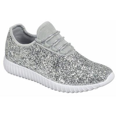 Women's Glitter Lace- Up Shoes