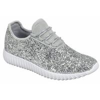 Women's Glitter Lace-Up Shoes