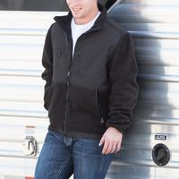 Men's Black Fleece Jacket