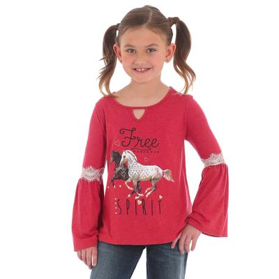 Wrangler Girl's Peasant Bell Sleeve Graphic T- Shirt