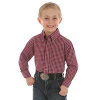 Wrangler Riata Boy's Long Sleeve Button Shirt