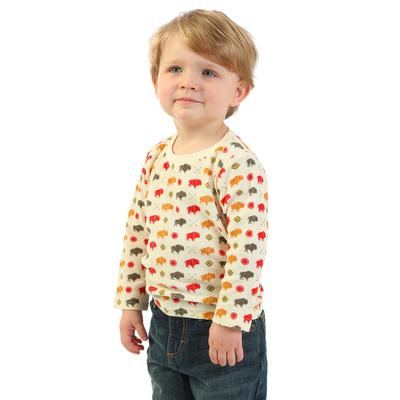 Wrangler Toddler Boy's Buffalo Print Thermal
