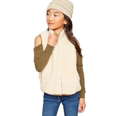 Hayden Girl's Zip- Up Fur Vest