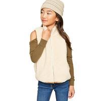 Hayden Girl's Zip-Up Fur Vest