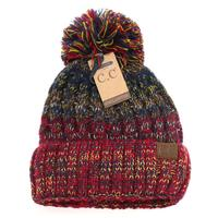 CC Women's Beanie With Yarn Poof