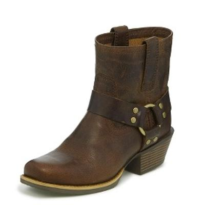 Justin Women's Harness Brown Heritage Shorty Boot