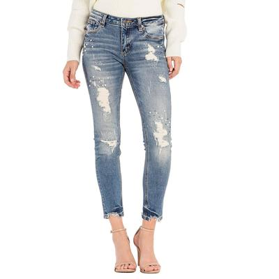 Miss Me Women's Mid- Rise Ankle Skinny