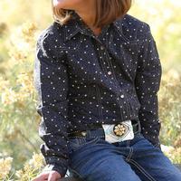 Gruel Girl's Leopard Heart Snap Shirt