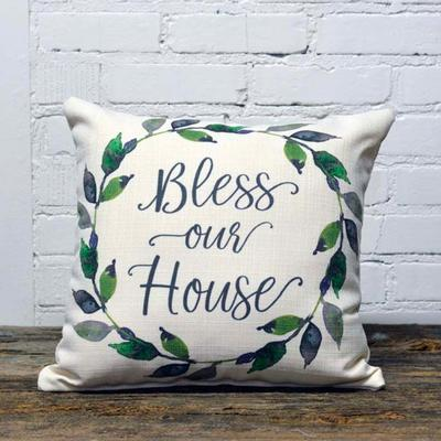 Bless Our House Pillow