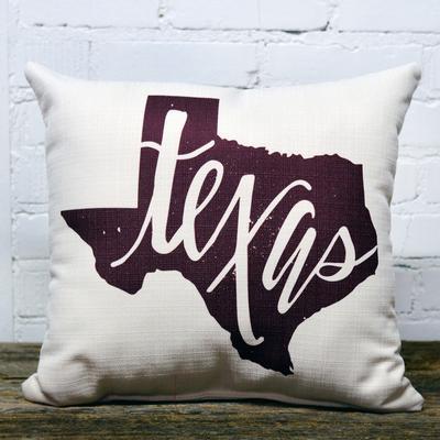 Texas Maroon Pillow