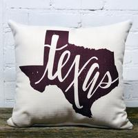 Texas Maroon Pillow