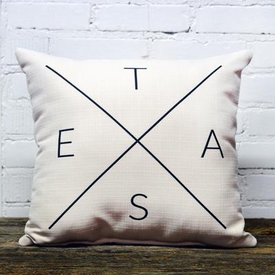 T- E- X- A- S Pillow