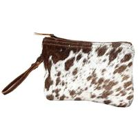 Myra Bag's White and Brown Hairon Small Bag