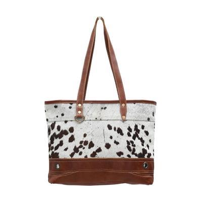 Myra Bag's Combined Leather And Hair- On Handbag