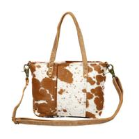 Myra Bag's Aptitude Leather and Hair-On Bag