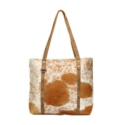 Myra Bag's Opulent Leather And Hair- On Bag
