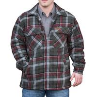 Men's Quilted Flannel Shirt Jacket