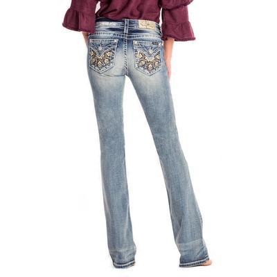 Miss Me Women's Botanical Bootcut Jean
