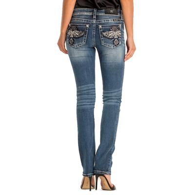 Miss Me Women's Native Inspired Wings Straight Jean