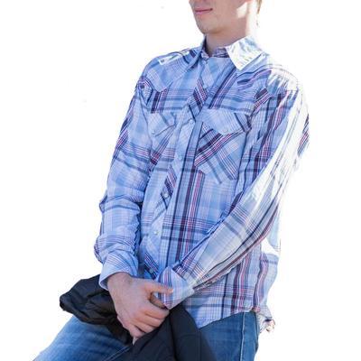 Resistol Double R Men's Sutcliffe Plaid Snap Shirt