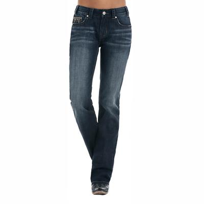 Rock & Roll Denim Women's Aztec Mid Rise Boot Cut Jeans