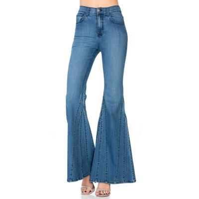 O2 Denim Women's High-Rise Mermaid Flare Jeans