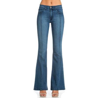 O2 Denim Women's Mid-Rise Flare Jeans MEDIUMWASH
