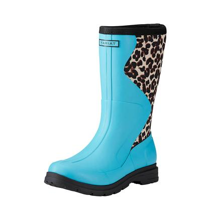 Ariat Women's Springfield Bright Aqua Waterproof Rubber Boots