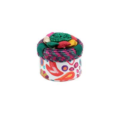 Consuela's White Swirly Basic Trinket Box