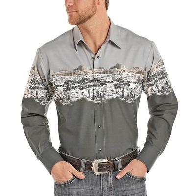 Panhandle Men's Scenic Border Snap Shirt