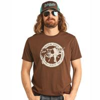 Dale Brisby Men's Brown Buckin' Stock Tee