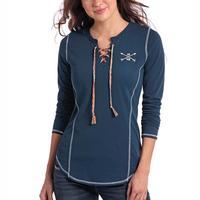 Panhandle Women's Midnight Blue Arrow Top