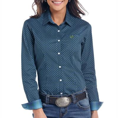 Panhandle Women's Comal Vintage Print Button Down Shirt