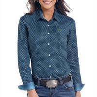 Panhandle Women's Comal Vintage Print Button Down Shirt