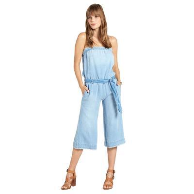 Bella Dahl Women's Strapless Frayed Crop Jumpsuit