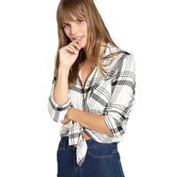 Bella Dahl Women's Long Sleeve Pocket Button Down Top