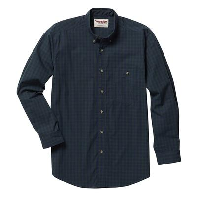 Wrangler Men's Dark Forest Plaid Rugged Wear Shirt