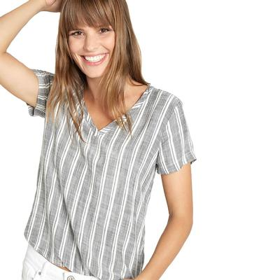 Bella Dahl Women's Short Sleeve V- Neck Top