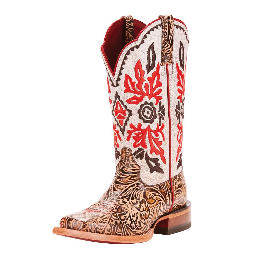 463fb434776 Ariat Womens White Crackle Magnolia Boots