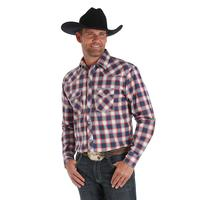 Wrangler Men's 20X Berry and Blue Competition Shirt
