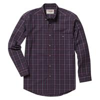Wrangler Men's Wineberry Plaid Rugged Wear Shirt