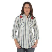 Wrangler Women's Rose Plaid Snap Shirt
